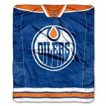 Edmonton Oilers Royal Plush Raschel Fleece Throw Blanket